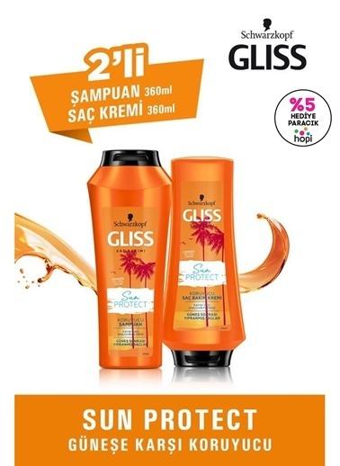 Gliss Sun Protect Güneşe Karşı Koruyucu Set (şampuan 360 Ml + Saç Kremi 360 Ml)  Renksiz